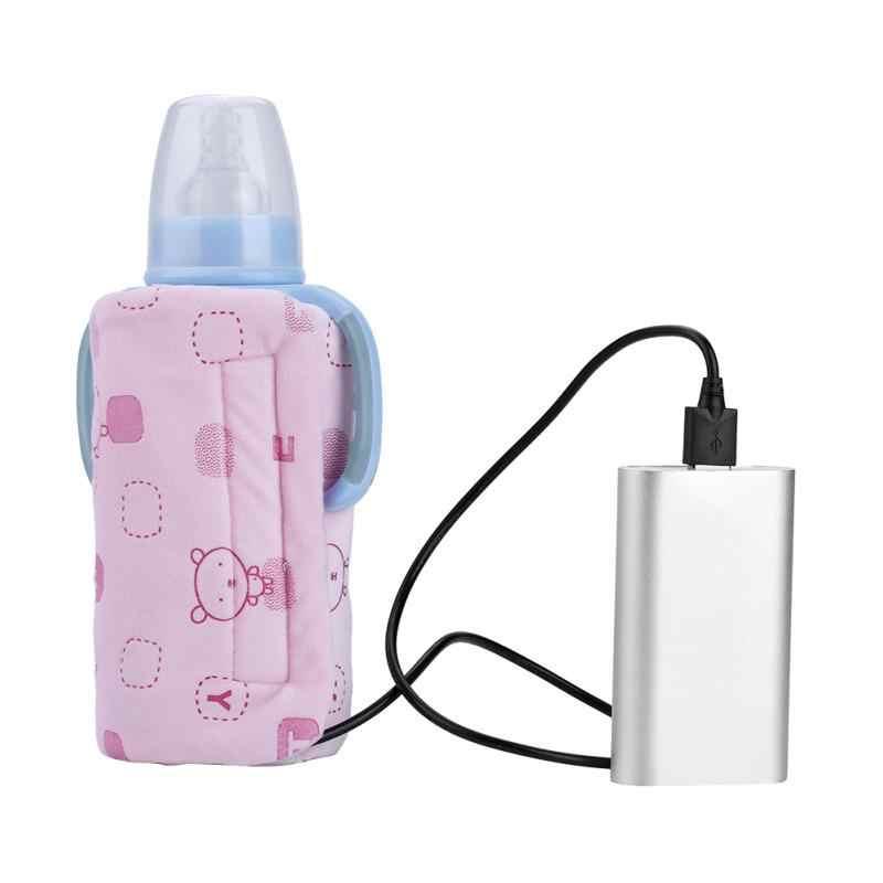 Портативный USB дорожный подогреватель молока Электрический нагреватель для бутылок для кормления младенцев крышка нагревателя термостат изоляции подогреватель еды