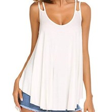 New Arrival Summer Casual V Neck Thin Tank Women Sleeveless Slim Solid Top
