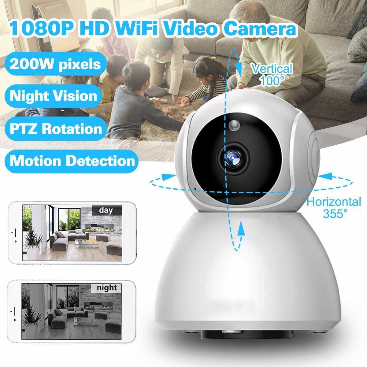 HD 1080P Cloud Wireless IP Camera Intelligent Auto Tracking Of Human Home Security camera Surveillance CCTV Network Wifi CameraHD 1080P Cloud Wireless IP Camera Intelligent Auto Tracking Of Human Home Security camera Surveillance CCTV Network Wifi Camera