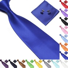 20 Colors Casual Mens Ties Silk Jacquard Woven Pink For Men Wedding Business Party Cufflinks Neck Tie Set New