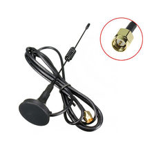 NEW Black GSM GPRS Small Suction Cup Antenna 433Mhz 3dbi Magnetic Base 1.5M RG174 Cable SMA Male Plug Magnet Seat 3cm(China)