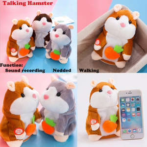 Lovely Hamster Talking Mouse Pet Plush Toy Christmas Kids Gift High Quality