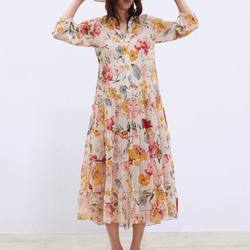 Шифоновое платье (реплика Zara)  Цена: 1080 руб. (16.75$) | 488 заказа(ов)  Купить:     ???? Материал: полиэстер. Ткань стандартная для шифоновых платьев, полупрозрачная, но под низ идёт бежевое платье, так что ничего не просвечивает) Гладится легко, мнётс