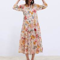d3a7b4e6e Women Floral Chiffon Dresses Summer 2019 New Fashion Spaghetti Strap Lining  Two Piece Sets Modern Lady