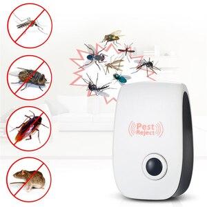 Image 2 - EU 米国のプラグイン電子害虫リペラー超音波グルーミングツール蚊マウス、ラットマウス撥アンチモスキートリペラキラー Rode