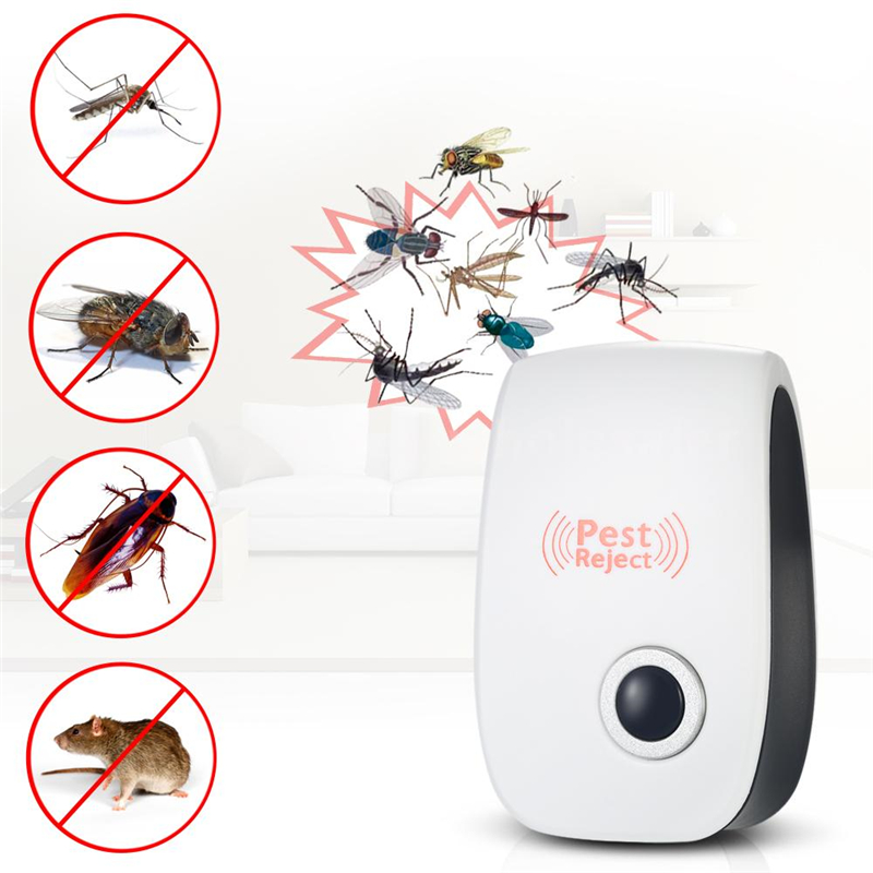 Image 2 - EU US PLUG Electronic Pest Repeller Ultrasonic Rejector Mouse Mosquito Rat Mouse Repellent Anti Mosquito Repeller killer Rode-in Traps from Home & Garden