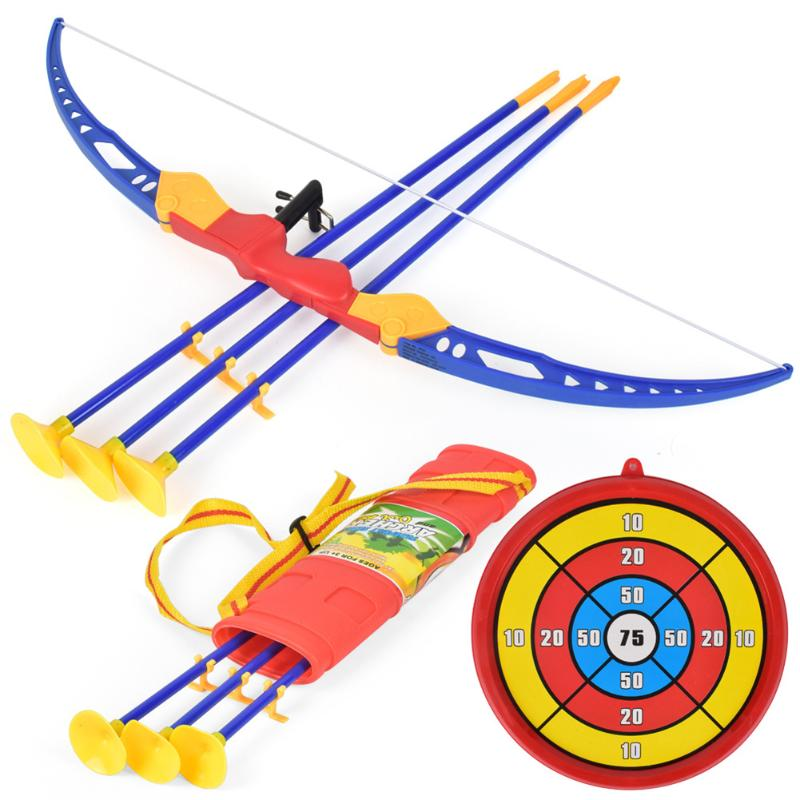 Simulation Bow Arrow Plastic Soft Sucker Arrow With Target Set Children Outdoor Sports Toys For Boys Birthday New Year Gifts