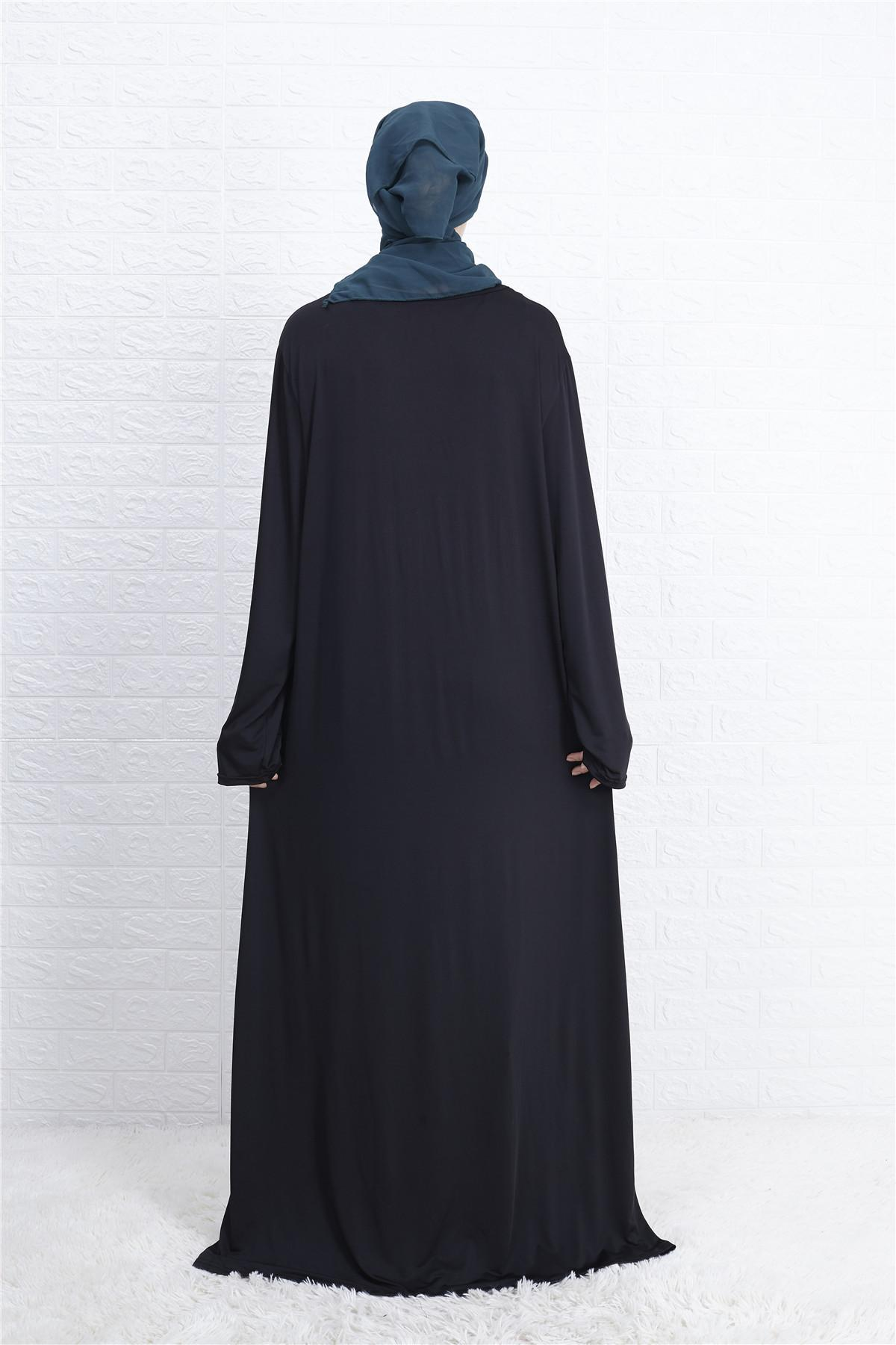 Ramadan Muslim Women Arab Dress Abaya Long Maxi Robe Islamic Kaftan Jilbab Party Cocktail Prayer Clothes Loose Worship Service