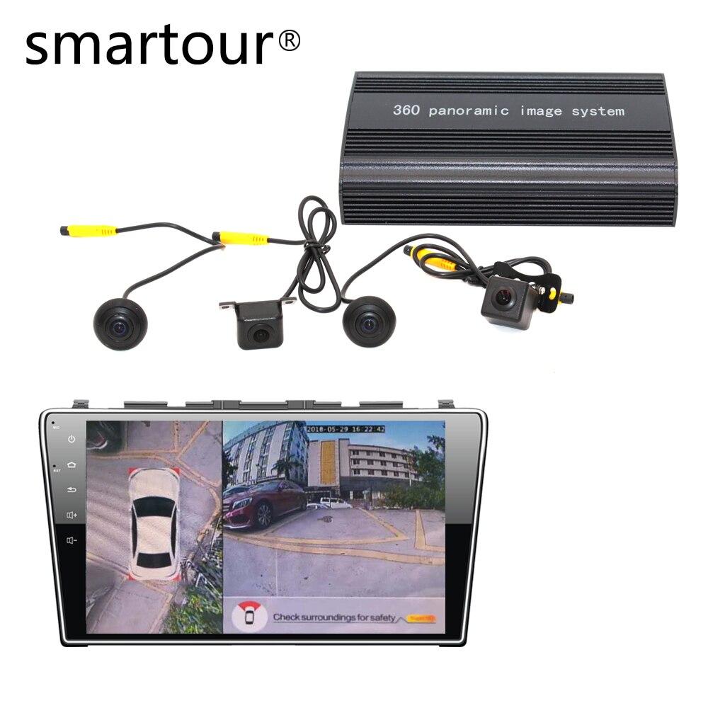Smartour car 1080 P Super HD 360 degrés système de vue d'oiseau vue panoramique caméra tout rond avec DVR conduite Surround recoder