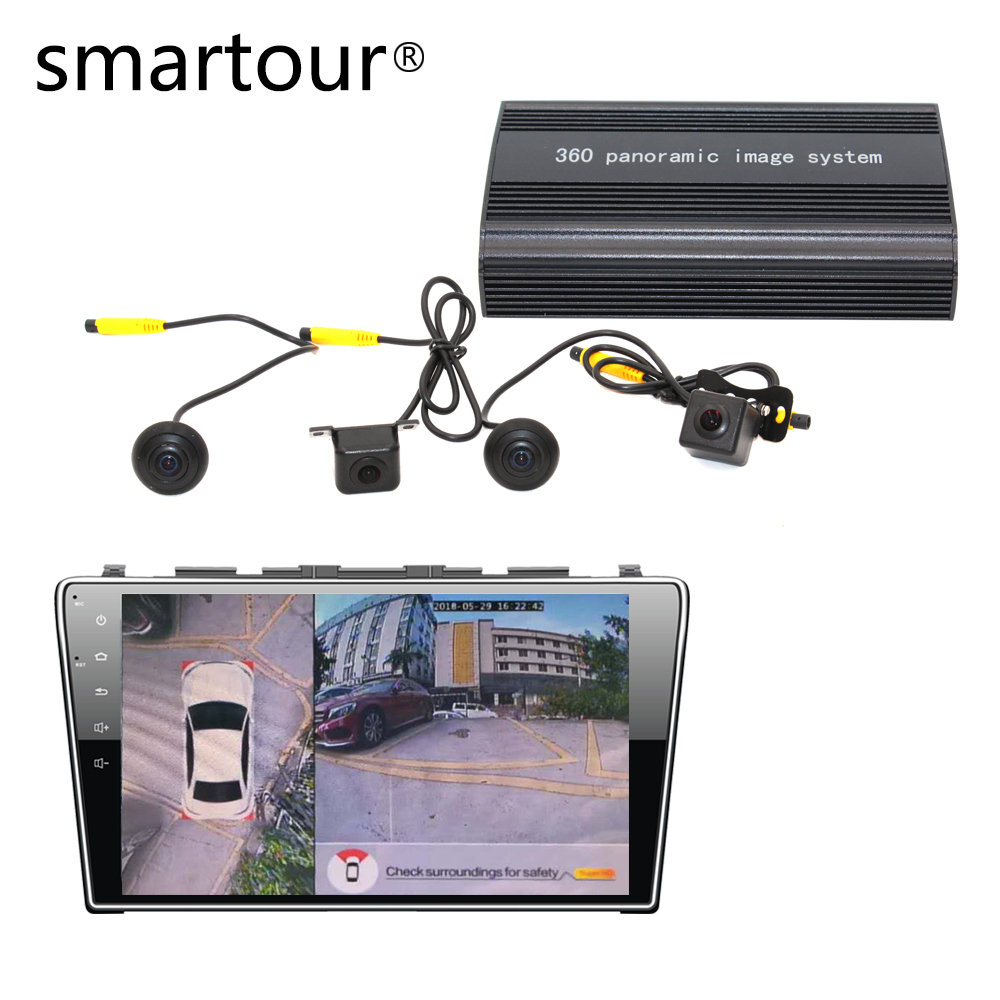 Smartour carro 1080 P Super HD 360 Graus bird View Sistema de Câmera com DVR driving Surround Vista Panorâmica de todo recoder