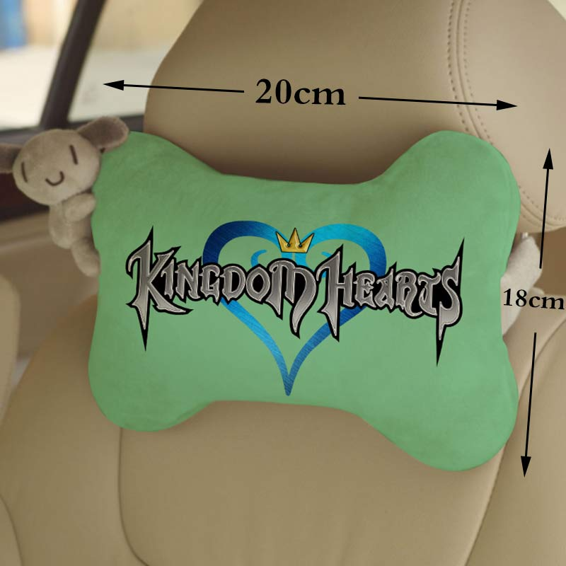OHCOMICS 1Piece Game Kingdom Hearts Sora Chain of Memories Car Seat Headrest Head Neck Pillow Comfortable Soft Neck Rest Support