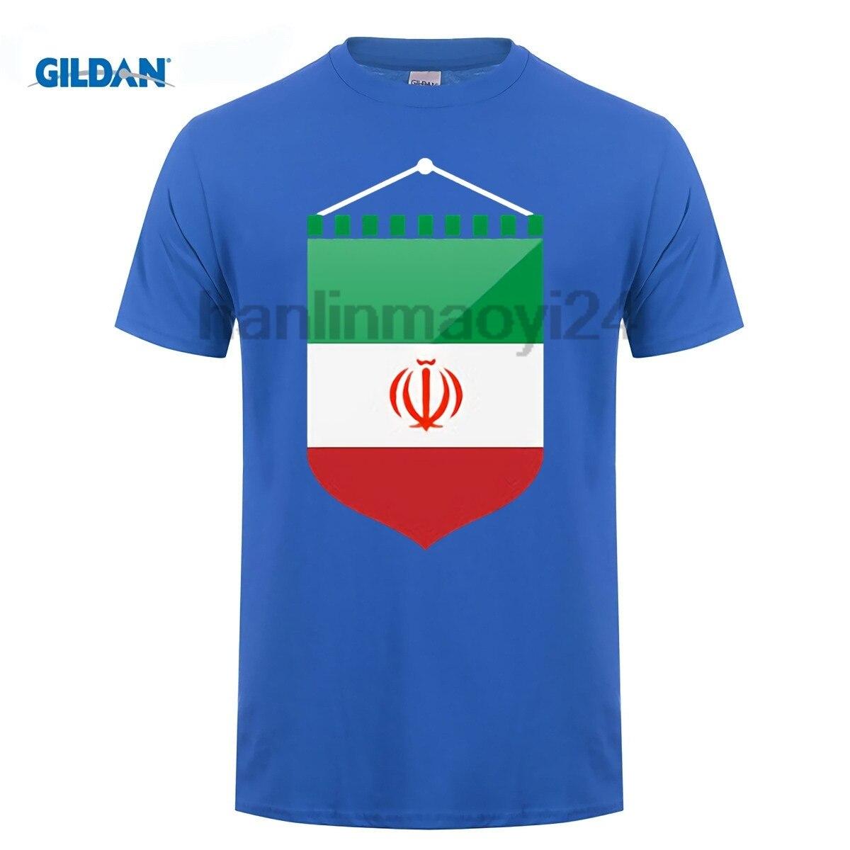 GILDAN Iran National Flag T shirts For Men Fashion 100% Cotton Nostalgic Patriotic T-shirt Clothing