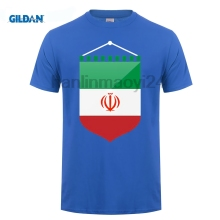 GILDAN Iran National Flag T shirts For Men Fashion 100% Cotton Nostalgic Patriotic T-shirt Clothing