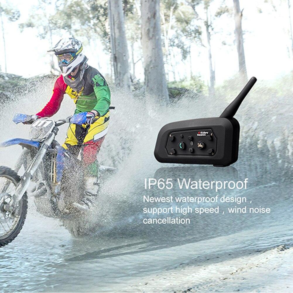 Headset Portable Communication System Bluetooth Interphone Intercom Waterproof Microphone 1200m Motorcycle Helmet Intercom