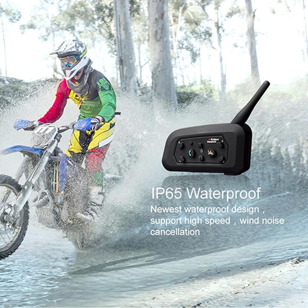 Headset Tragbare Kommunikation System Bluetooth Sprechanlage Intercom Wasserdichte Mikrofon 1200 m Motorrad Helm Intercom-in Handy-Ohrhörer und Kopfhörer Bluetooth aus Verbraucherelektronik bei  Gruppe 1