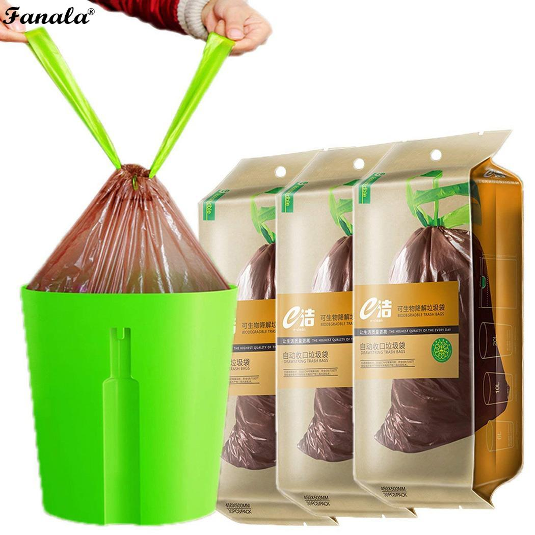 Bag Bin Dustbin Trash-Bag Biodegradable Drawstring Eco-Friendly Kitchen Garbage Home