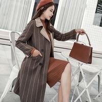 Новое поступление осень-зима женское кашемировое пальто двубортный отложной воротник Модный классический шерстяной Повседневный темпера...