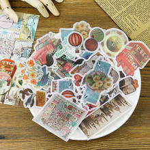 60Pcs/Pack Cute Vintage Stationery Stickers Kawaii Paper Adhesive For Kids DIY Diary Scrapbooking Photo Ablums