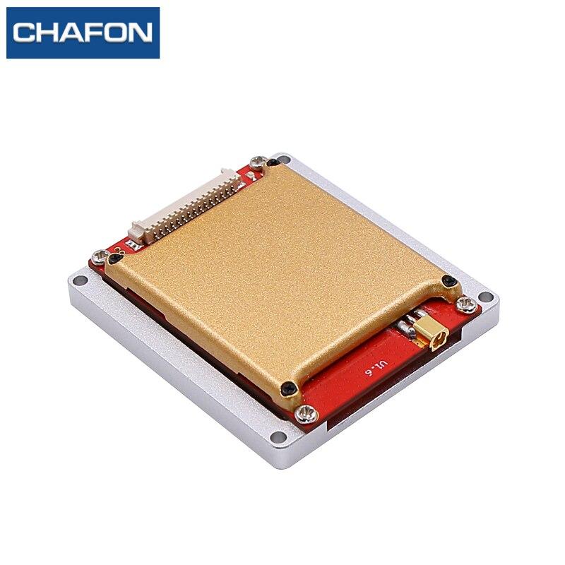 Module de lecteur uhf rfid de puce de CHAFON 15M impinj r2000 avec une plaque de dissipation thermique de port d'antenne pour la gestion d'entrepôt