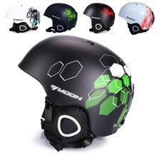 MOON унисекс зимний лыжный шлем интегрированный литой лыжный шлем для взрослых и детей снег безопасный скейтборд шлем s-xl 52-64 см