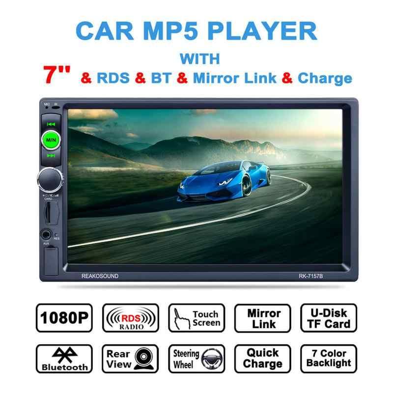 Фото 7 дюймовый автомобильный двойной шпиндель Bluetooth MP5 плеер заднего вида камеры все в
