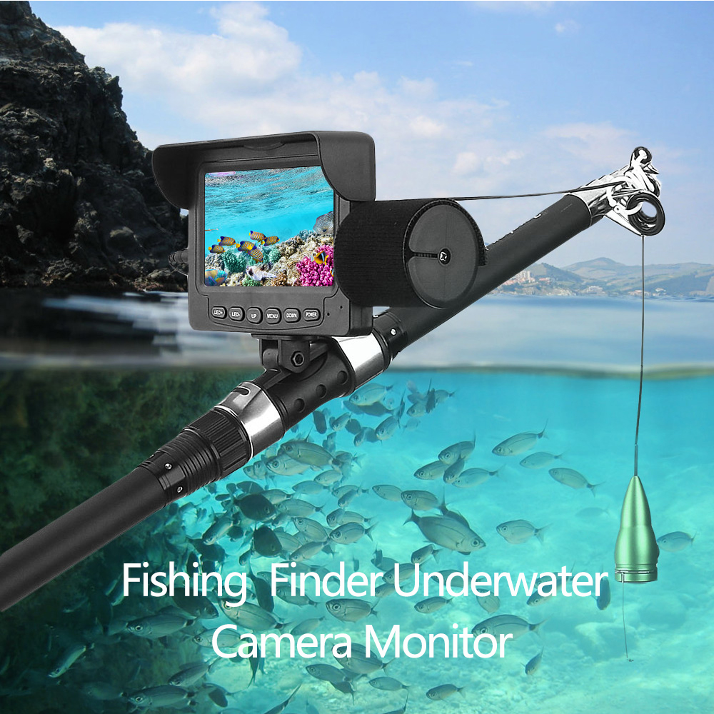 Outlife Night Vision Fishing Camera LED 15M Cable 1000TVL 4.3 Inch LCD Monitor Fish Finder Underwater IP68 Waterproof FishfinderOutlife Night Vision Fishing Camera LED 15M Cable 1000TVL 4.3 Inch LCD Monitor Fish Finder Underwater IP68 Waterproof Fishfinder