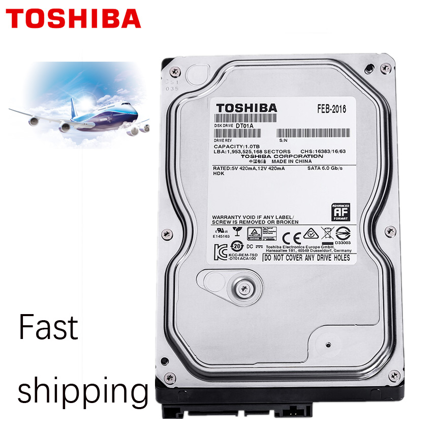 "TOSHIBA 1TB Video Surveillance Hard Drive Disk DVR NVR CCTV Monitor HDD HD Internal SATA III 6Gb/s 5700RPM 32MB 3.5"" harddisk 4"