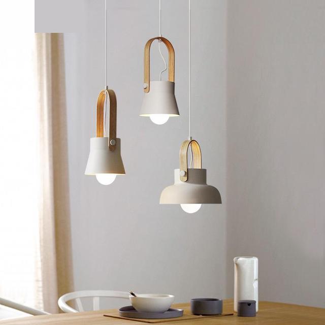 Bar wood hanging lamp PostModern 1 pcs Led Suspension Luminaire shopcase Fashion Store Modern Bedside Lamp Wooden Pendant Light