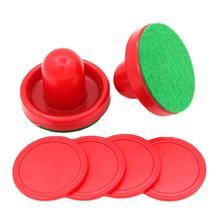Аксессуары для воздушного хоккея 76 мм и 52 мм шайба войлочный молоток толкача взрослые настольные игры развлекательные игрушки красный HLP3800