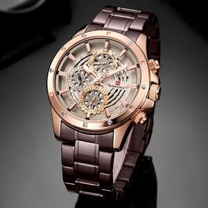 Image 5 - Relógio à prova dwaterproof água 24 horas relógio de pulso de negócios de aço completo relógios de quartzo criativo masculino topo de luxo marca naviforce