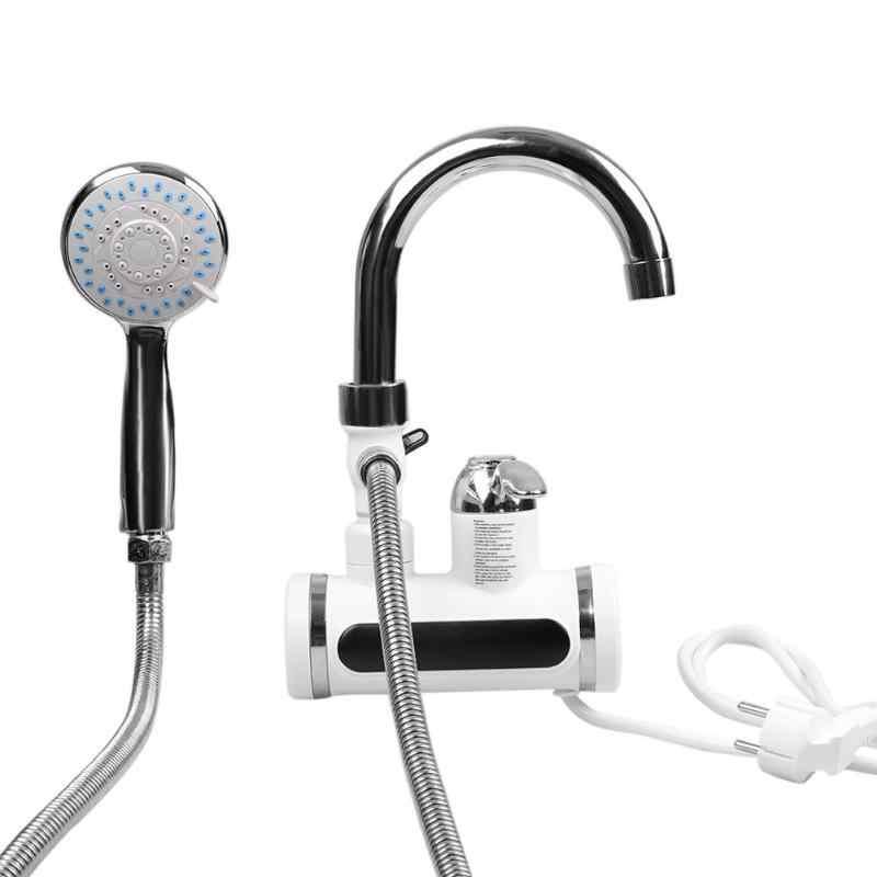 3000 watt Temperatur Display Elektrische Instant Heizung Wasser Heizung Tippen Heiß Kalt Wasser Wasserhahn EU Stecker Küche wasser filter teile