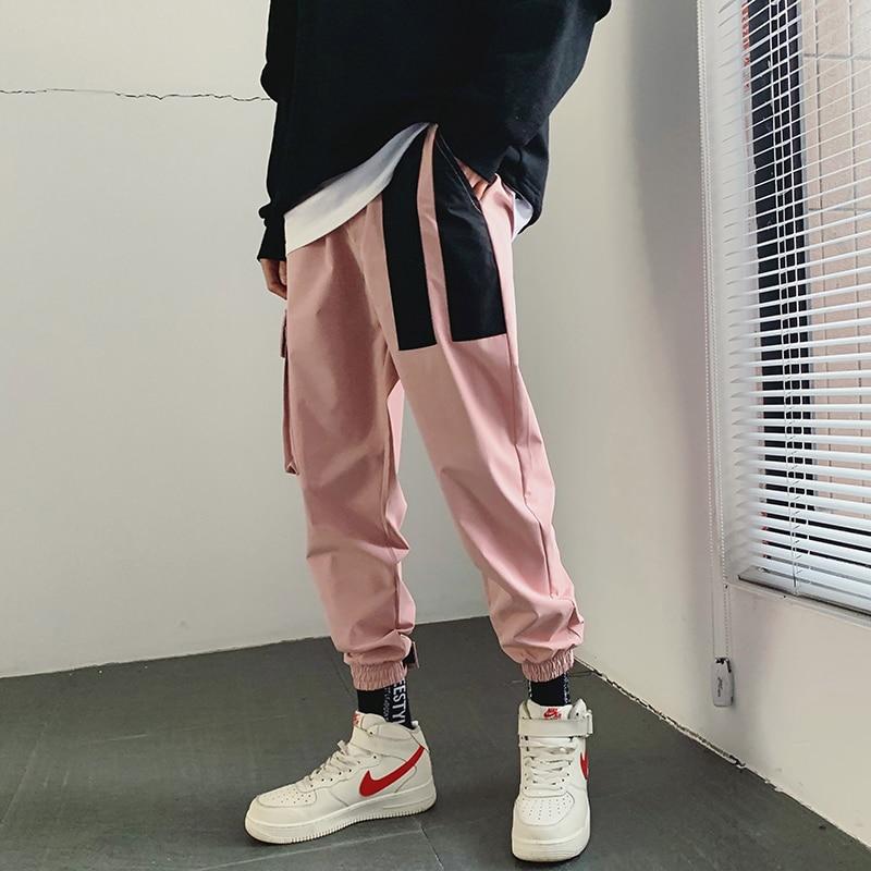 516dac58 2019 мужские хлопковые спортивные штаны с принтом, модные брюки в стиле  хип-хоп,