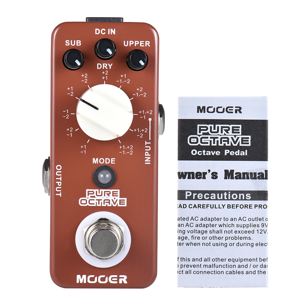 MOOER PURE OCTAVE Guitar Pedal Mini Octave Guitar Effect Pedal 11 Octave Modes True Bypass Full