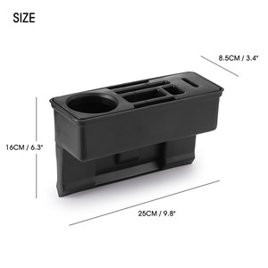 Image 5 - Car Seat Crevice Storage Organizer Console Side Pocket Auto Seat Gap Pocket Organizer with Coin Box and Water Cup Holder
