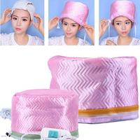 Electric Hair Steamer Cap Heating Thermal Unisex 220V Cap 55 70W Hair Styling Casual Tool Pink US Plug