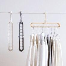 بيع 1 قطعة متعددة الوظائف ماجيك الداخلية خزانة شماعات صندوق تخزين ملابس منظمة