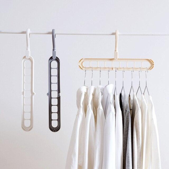 販売 1PC 多機能マジックインテリアワードローブハンガー衣類収納組織