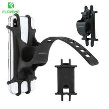 Phone Silicone Holder Universal Bike Bicycle Motorcycle Mobile Mount Buckle Pull Non-slip For Cellphone Handlebar Bracket Stand(China)