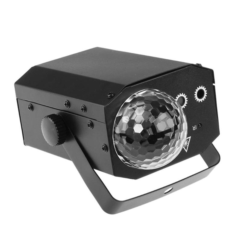 16 Patterns Projector LED Magic Effect DJ Disco Ball Voice Control Stage Laser Light with Remote Control KTV Bar Party Lamp