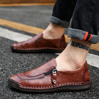 Men Leather Sneakers Men Tenis Casual Shoes Loafers Spring Autumn Mens Moccasins Shoes Genuine Leather Men's Flats Shoes