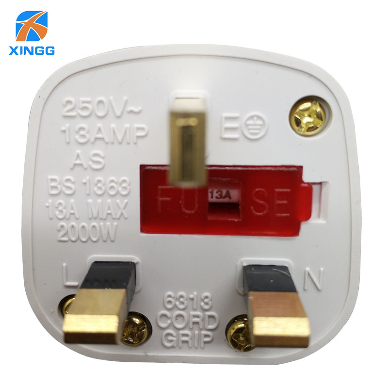 Uk Plug Fuse Socket 3 Pins Ac Electrical Power Male Plug