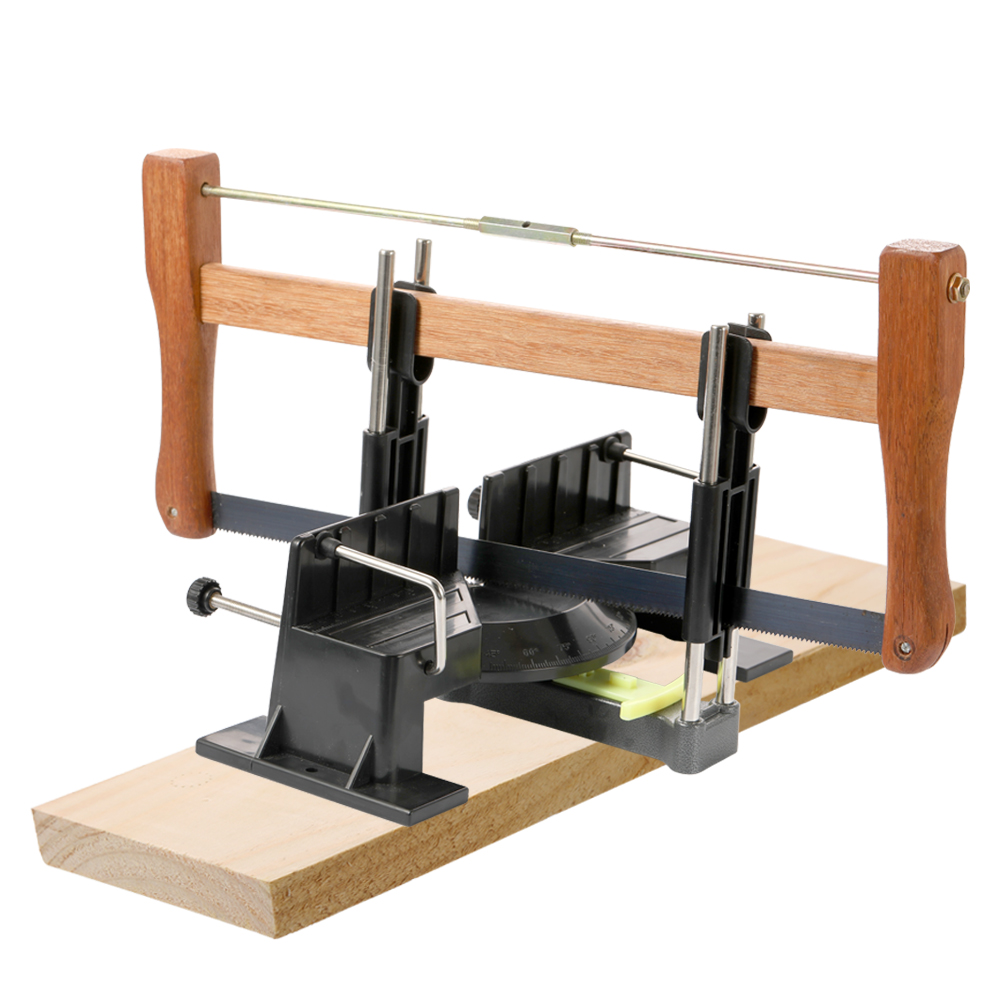 Safe Hand Saw Set DIY Woodworking Arm Saws with Saw and Wooden Base for Children 12 300mm aluminum alloy saw frame hand saws hacksaw woodworking saws