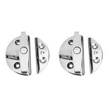 """Round 2.17"""" Door Locker Latch Hatch Lock Deck Latch – Marine 316 Stainless Steel"""