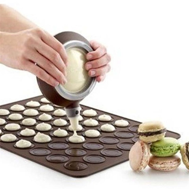 Nouveau Silicone macaron pâtisserie four cuisson moule feuille tapis 30 cavités moule pour faire soi-même tapis de cuisson tapis de cuisson