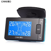 CAREUD U902 LCD Display TPMS 433.92MHz DC 12V Car Tire Pressure Monitoring System With 4 Tpms External /Internal Sensor