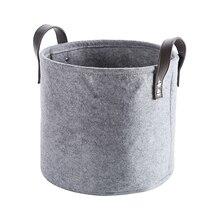 Войлочный материал цилиндр для хранения мелочей корзина для хранения легкая и прочная для одежды полотенце для игрушек и туалета