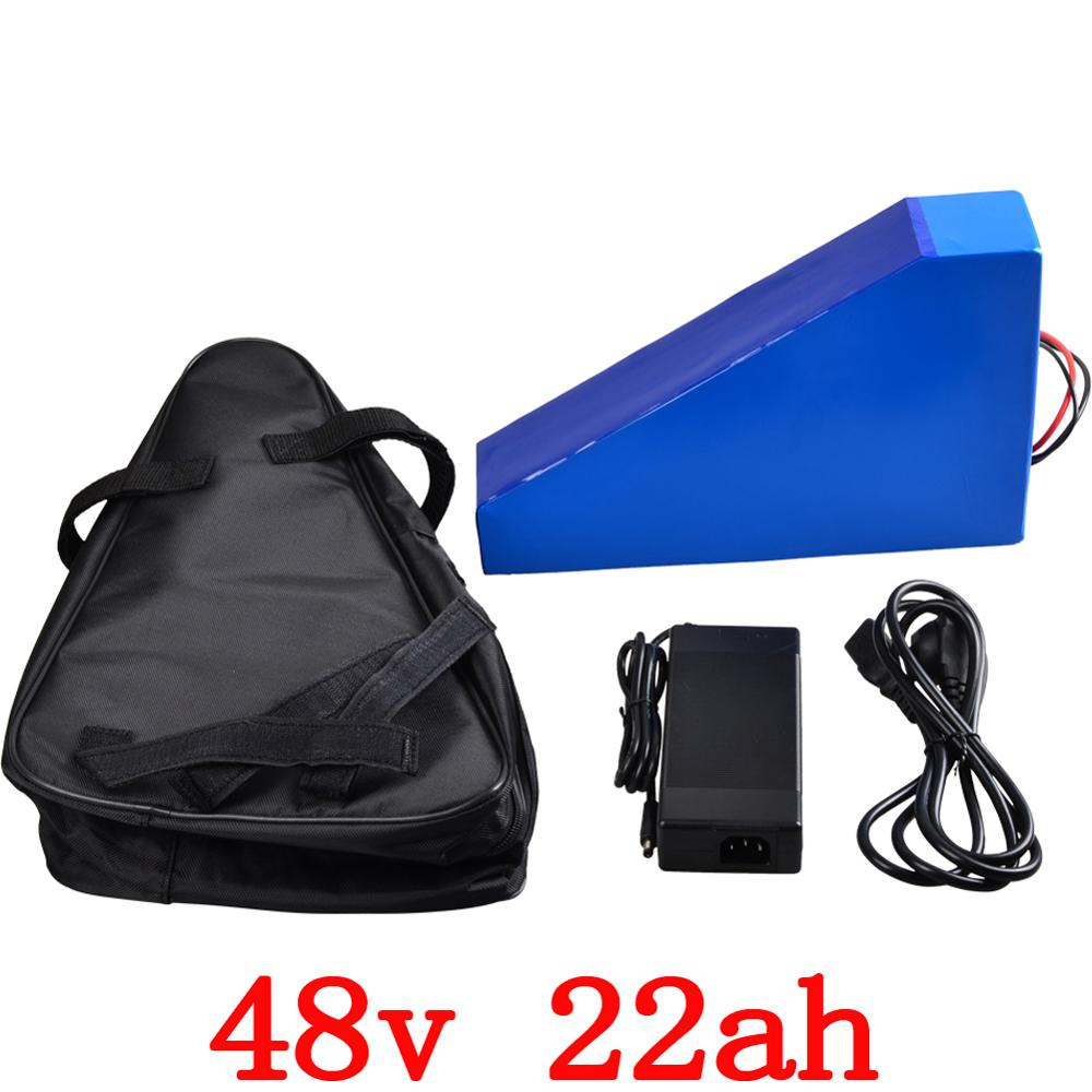 48V 2000W Triangle battery 48v 22ah electric bicycle battery 48V 22AH Lithium battery with 50A BMS+54.6V 5A charger duty free48V 2000W Triangle battery 48v 22ah electric bicycle battery 48V 22AH Lithium battery with 50A BMS+54.6V 5A charger duty free