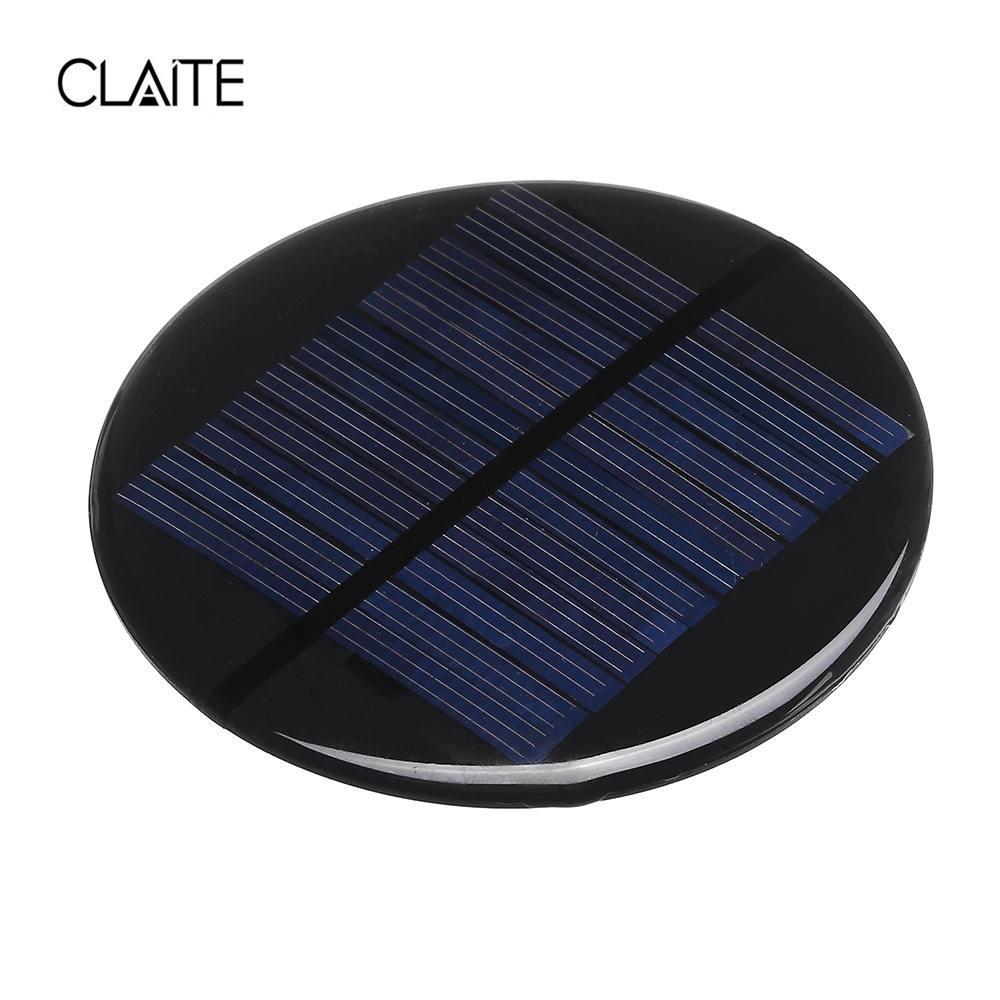 Competent Claite Solar Power 6v 2w 0.35a 80mm Diy Mini Polycrystalline Silicon Solar Cell Module Circle Round Solar Panel Epoxy Board Jade White Power Source