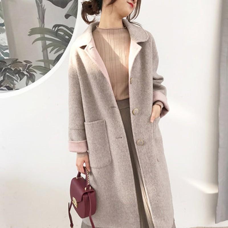High grade Wool Jackets Women Winter Autumn Overknee Double Wool Clothing Elegant Overcoats For Female 2019 Woolen jacket AS206