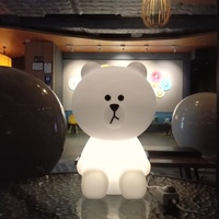 Rabbit Bunny Bear Baby Lamp Night Light Dimmable USB Lamp Creative Cartoon Animal Gift For Kids Children Bedroom LED Table Lamp